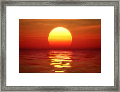 Sunset Over Tranqual Water Framed Print by Johan Swanepoel