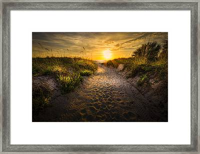 Sunset Path Framed Print by Marvin Spates