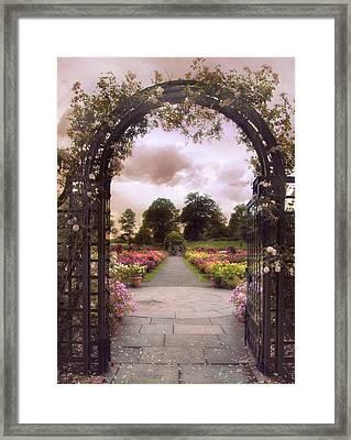 Sunset Pergola Framed Print by Jessica Jenney