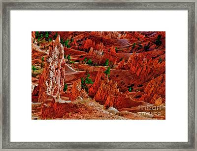Sunset Point Bryce Canyon A Rocky View Framed Print by Blake Richards