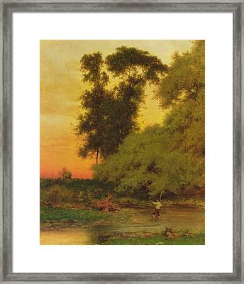 Sunset, Pompton, New Jersey Framed Print by George Inness Snr