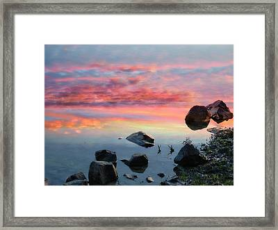 Sunset Reflection Framed Print by Marcia Lee Jones