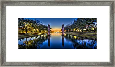 Sunset Reflection Framed Print by Marvin Spates
