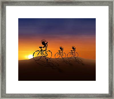 Sunset Riders Framed Print by Gravityx9 Designs
