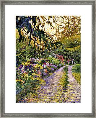 Sunset Road Impressions Framed Print by David Lloyd Glover