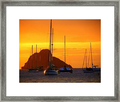 Sunset Sails Framed Print by Karen Wiles