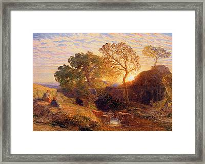 Sunset Framed Print by Samuel Palmer