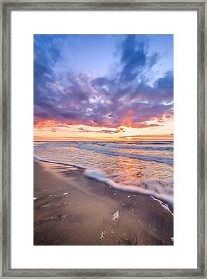 Sunset Shore Framed Print by Catalin Tibuleac