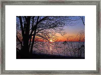 Sunset Silhouette 2 Framed Print by Peter Chilelli
