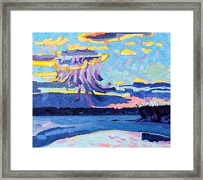 Sunset Snow Virga Framed Print by Phil Chadwick