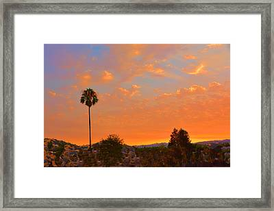 Sunset Solano County Framed Print by Josephine Buschman