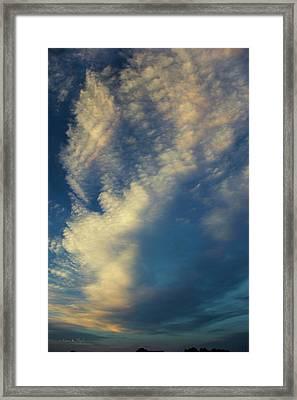 Sunset Stack Framed Print by Karen Slagle