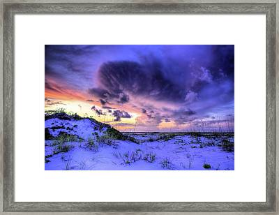 Sunset Storms Over Pensacola Beach Framed Print by JC Findley