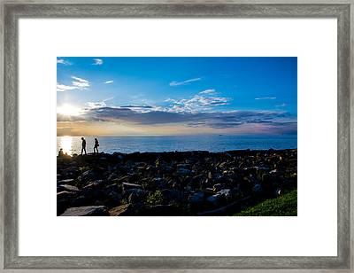 Sunset Stroll  Framed Print by Paul Evans