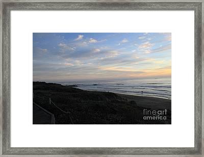 Sunset Surf Framed Print by Linda Woods