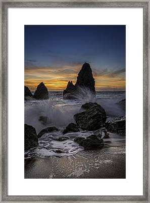 Sunset Tide On Rodeo Beach Framed Print by Rick Berk