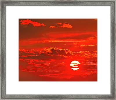 Sunset Framed Print by Tony Beck