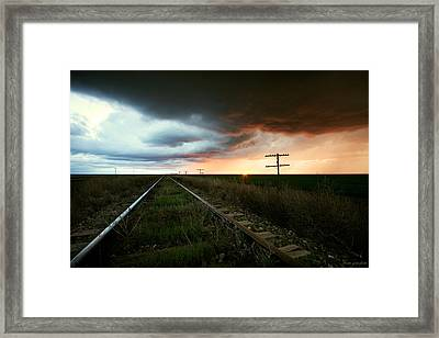 End To A Stormy Day Framed Print by Brian Gustafson
