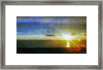 Sunset Under The Clouds Framed Print by Jeff Kolker