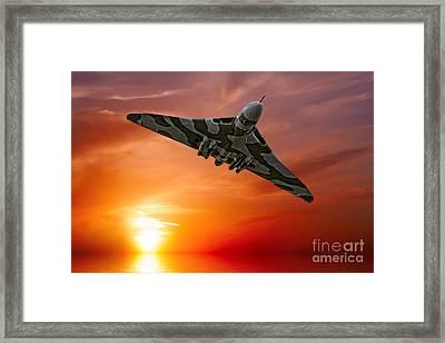 Sunset Vulcan Framed Print by Stephen Smith