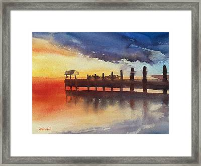 Sunset Watch Framed Print by Lynne Bolwell