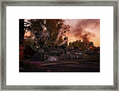Sunset Work Dogs Framed Print by Ken Smith