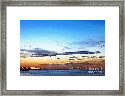 Sunshine Skyway Bridge Framed Print by Skip Nall