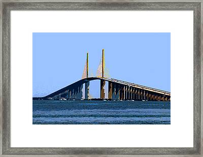 Sunshine Skyway Summer Framed Print by David Lee Thompson