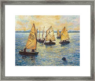 Sunwashed Sailors Framed Print by Marguerite Chadwick-Juner