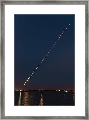 Super Blood Lunar Eclipse Framed Print by Brandon Green