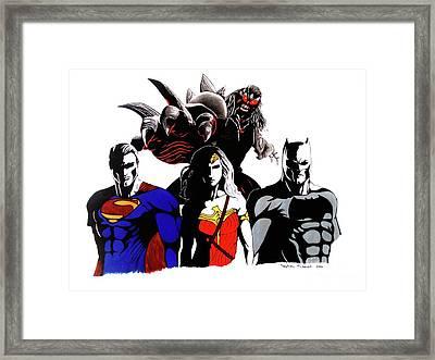 Super Heroes Framed Print by Calderdale Art
