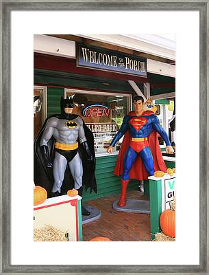 Super Heroes In The House Framed Print by Allen Beatty