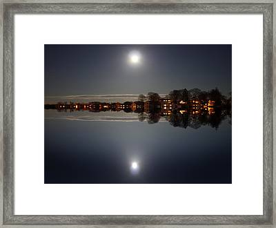 super moon night   Connecticut  Framed Print by Mark Ashkenazi