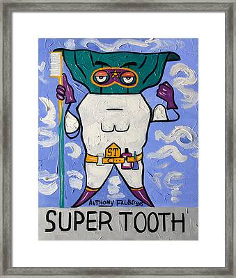 Super Tooth Framed Print by Anthony Falbo