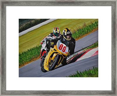 Superbikes Framed Print by Kenneth M  Kirsch