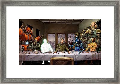 Supergod Last Supper-312 Framed Print by Jovemini ART