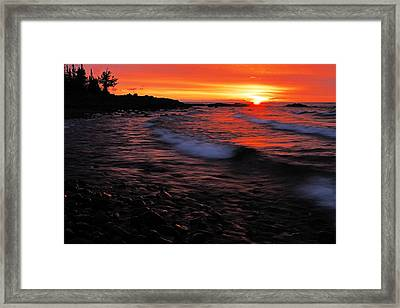 Superior Sunrise 2 Framed Print by Larry Ricker