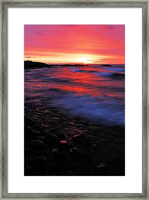 Superior Sunrise Framed Print by Larry Ricker