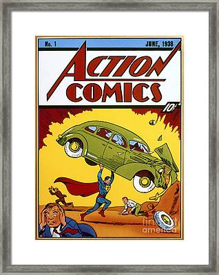 Superman Comic Book, 1938 Framed Print by Granger