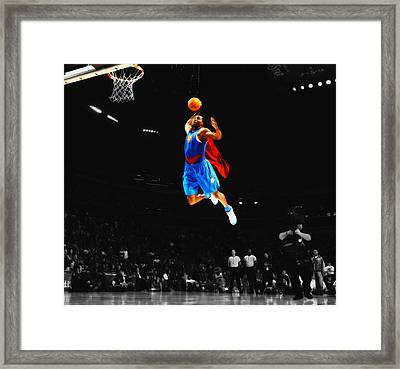 Superman Dwight Howard Framed Print by Brian Reaves