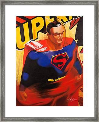 Superman Framed Print by Karl Melton