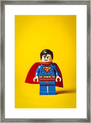 Superman - Man Of Steel Framed Print by Samuel Whitton