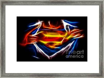Superman Framed Print by Pamela Johnson