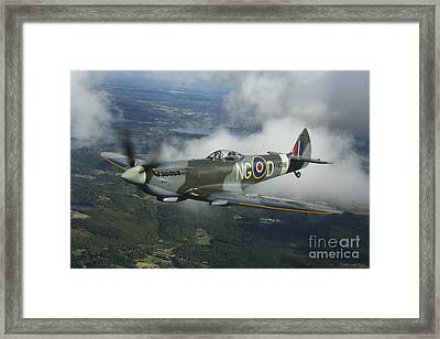 Supermarine Spitfire Mk.xvi Fighter Framed Print by Daniel Karlsson