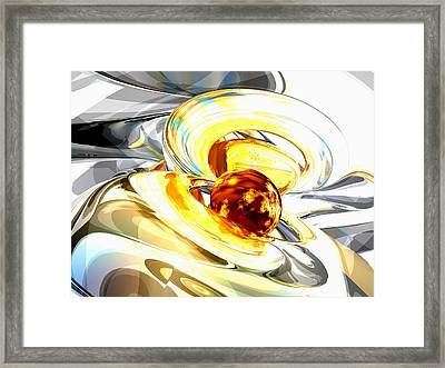 Supernova Abstract Framed Print by Alexander Butler