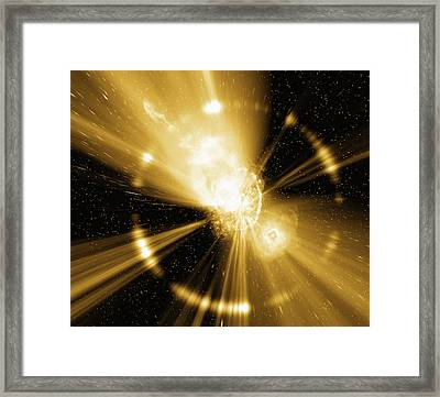 Supernova Explosion, Computer Artwork Framed Print by Mehau Kulyk