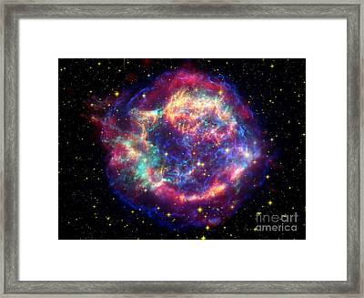 Supernova Remnant Cassiopeia A Framed Print by Stocktrek Images