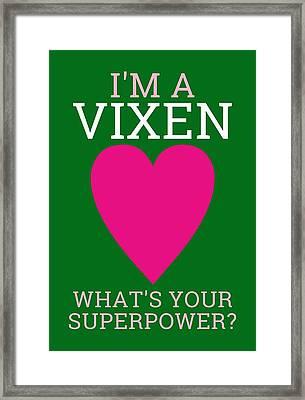 Superpower Framed Print by Maria Elena Ferran