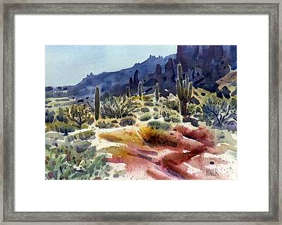Superstition Mountain Framed Print by Donald Maier