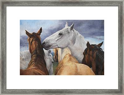 Support Group Framed Print by JQ Licensing